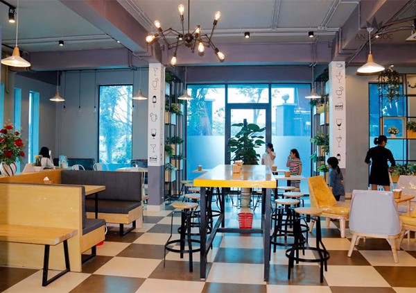 đèn led trang trí quán trà sữa
