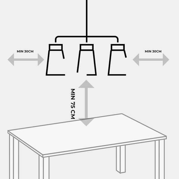 Khoảng cách treo đèn thả bàn ăn
